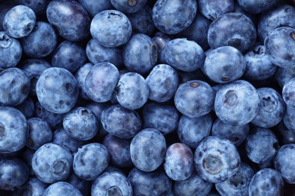 fresh ripe blueberries berries, organic food background